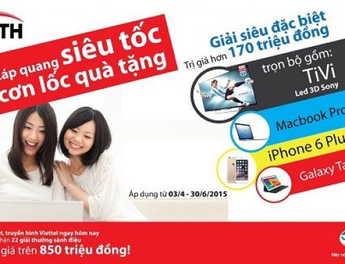 Lắp mạng Internet Viettel Cáp quang Hà Nội & HCM 2016